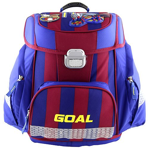 3D Goal - chlapecká školní aktovka značky Target, barva modrá a červená