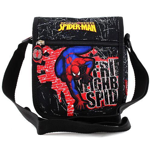 3D nášivka - senzační taška přes rameno s motivem hrdiny Spidermana, barva černá. Target