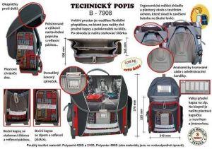 Školní batoh Emipo pro prvňáčky Street race
