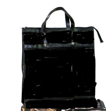 Skládací nákupní taška KšK vzor 214 černá