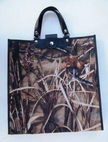 Nákupní taška KšK vzor 145 motiv dubový les do hněda