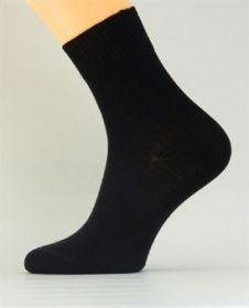 Bambusové společenské ponožky černé K032