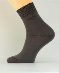 Bambusové společenské ponožky tmavě šedé K032