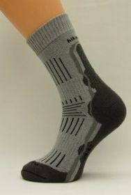 Bambusové termo ponožky Benet světle šedá ponožky K035