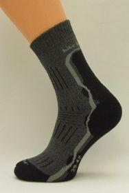 Bambusové termo ponožky Benet tmavě šedá ponožky K035