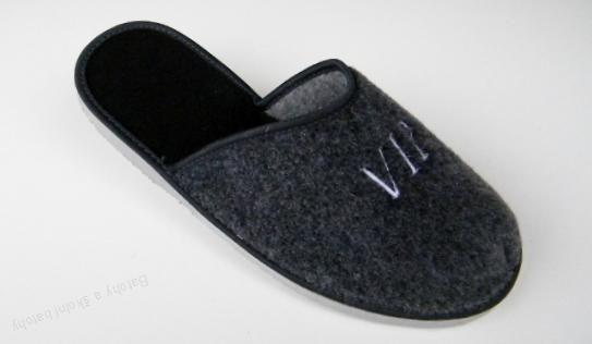 Domácí papuče pantofle Pegres s výšivkou VIP