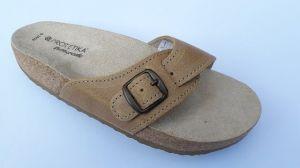 Korkové pantofle Protetika jednopáskové zdravotní světle hnědá vel. 45 (30)