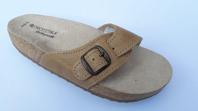 Korkové pantofle Protetika korkáče jednopáskové zdravotní světle hnědá Protetika a.s.