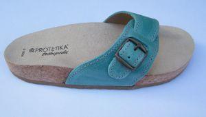 Korkové pantofle Protetika T05/54  tyrkysové