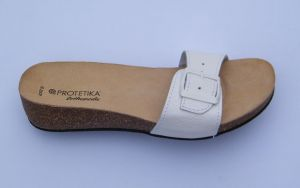 Korkové pantofle Protetika vz. T 84, ortopedicko - rehabilitační pantofle na klínu s anatomicky tvarovanou stélkou Protetika a.s.