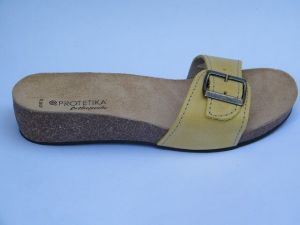 Korkové pantofle Protetika vz. T 84 - žlutá