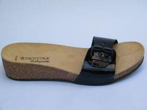 Korkové pantofle Protetika vz. T 84 - černá lakovaná kůže