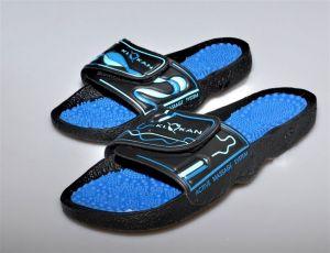 Masážní pantofle Moravia Klokan, barva modrá