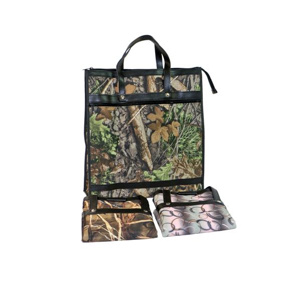 Skládací omyvatelná nákupní taška KšK vzor 156 motiv dubový les