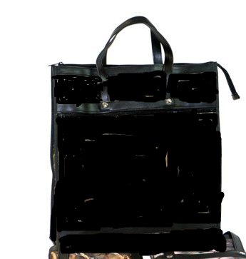 Skládací nákupní taška KšK vzor 156 černá