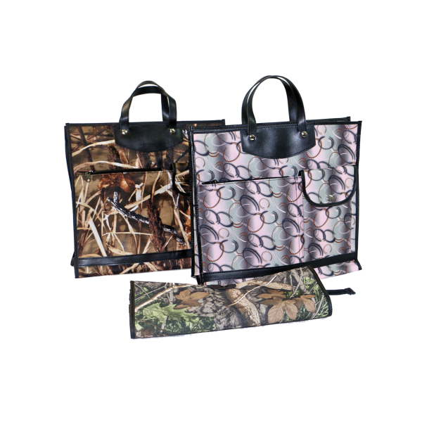 Skládací omyvatelná nákupní taška KšK vzor 233 motiv rákos