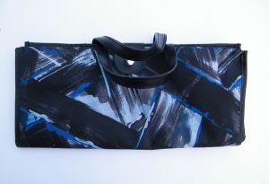 Skládací omyvatelná nákupní taška KšK vzor 233 modro černá