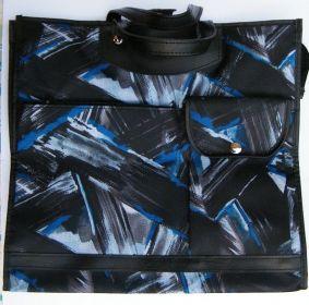 Nákupní taška KšK vzor 233 modro-černá a černá