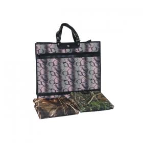 Skládací nákupní taška vz. 208 motiv dubový les barva hnědo zelená KšK