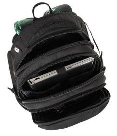 Školní batoh Bagmaster BAG 8 F BLACK/GREEN/WHITE