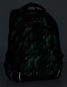Školní batoh Bagmaster DIGITAL 8 F BLACK/GREEN/WHITE