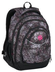 Školní batoh Bagmaster  ENERGY 7 A BLACK/PINK/VIOLET