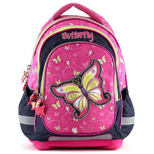 Školní batoh pro prvňáčky a 1. stupeň motýl Target