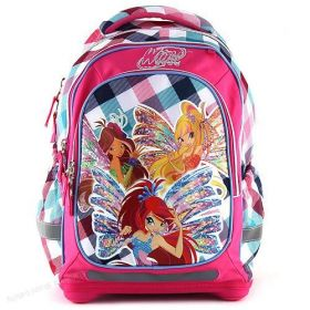 Školní batoh Target Winx Club barevné kostky