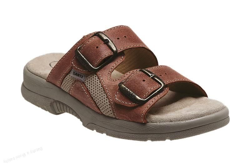Zdravotní obuv SANTÉ pantofle dámské N/517/31/49/S/SP lososová barva SANTÉ - zdravotní obuv s.r.o.