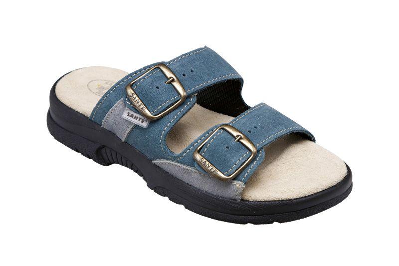 Zdravotní obuv SANTÉ pantofle dámské N/517/33/88/18/CP modré Sante pantofel SANTÉ - zdravotní obuv s.r.o.