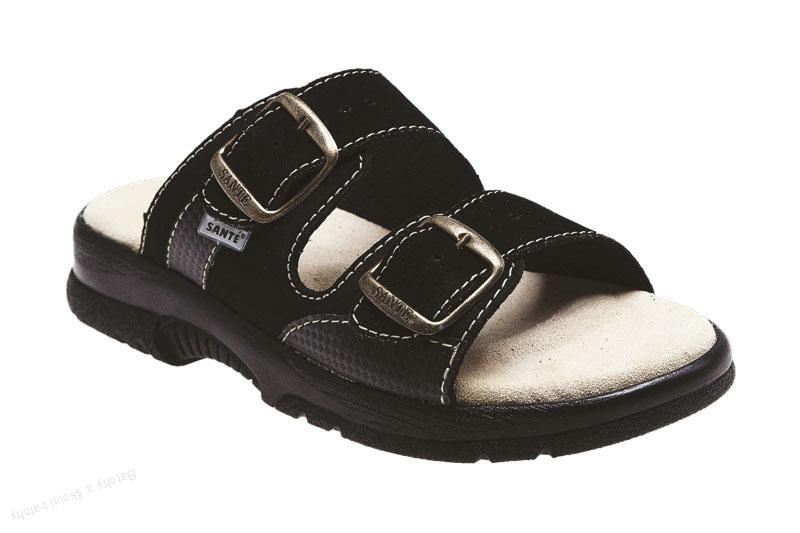 Zdravotní obuv SANTÉ pantofle pánské N/517/35/68/CP černá barva SANTÉ - zdravotní obuv s.r.o.