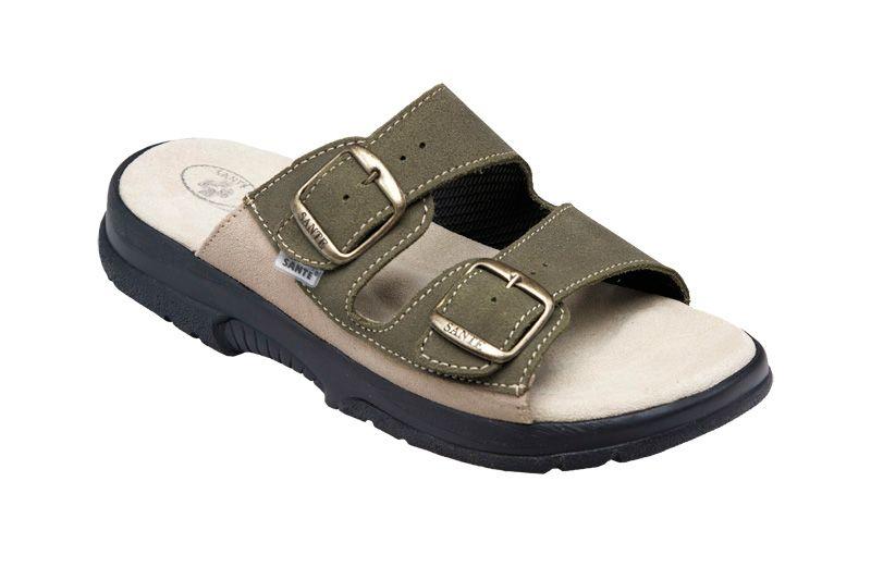 Zdravotní obuv SANTÉ pantofle pánské N/517/35/68/CP černá barva - Velikost 44 (29,5) SANTÉ - zdravotní obuv s.r.o.