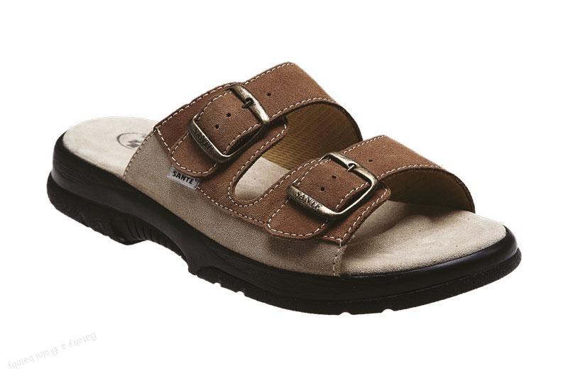 Zdravotní obuv SANTÉ pantofle pánské N/517/36/47/28/CP hnědá barva SANTÉ - zdravotní obuv s.r.o.