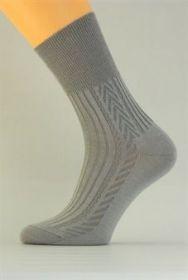 Zdravotní pánské ponožky Benet světle šedá P004