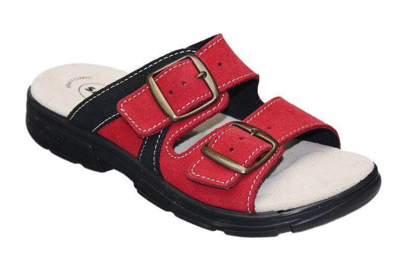 Zdravotní pantofle Santé skoženým svrškem a stélkou DM/125/33/38 CP