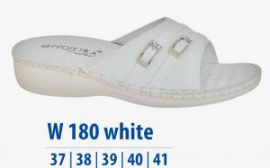 Dámská komfortní obuv Protetika bílé s přezkou