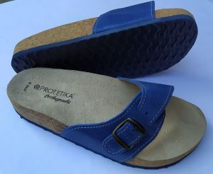 Korkové pantofle Protetika korkáče jednopáskové zdravotní modré Protetika a.s.