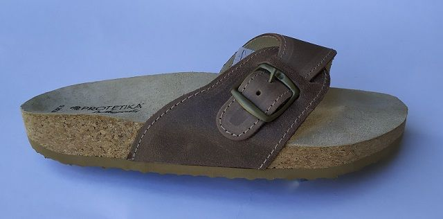 Korkové pantofle Protetika T05/40 korkáče jednopáskové zdravotní hnědá Protetika a.s.