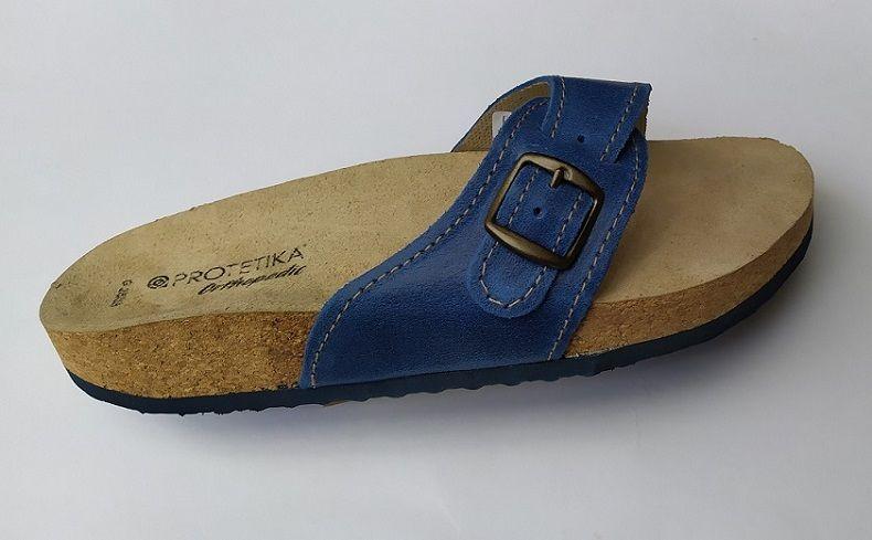 Korkové pantofle Protetika T05/Korkové pantofle Protetika korkáče jednopáskové zdravotní modré - Velikost 38 (25) Protetika a.s.