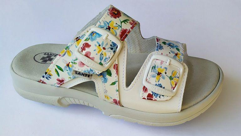 Zdravotní obuv SANTÉ pantofle dámské N/517/55/13K/10 flowers SANTÉ - zdravotní obuv s.r.o.