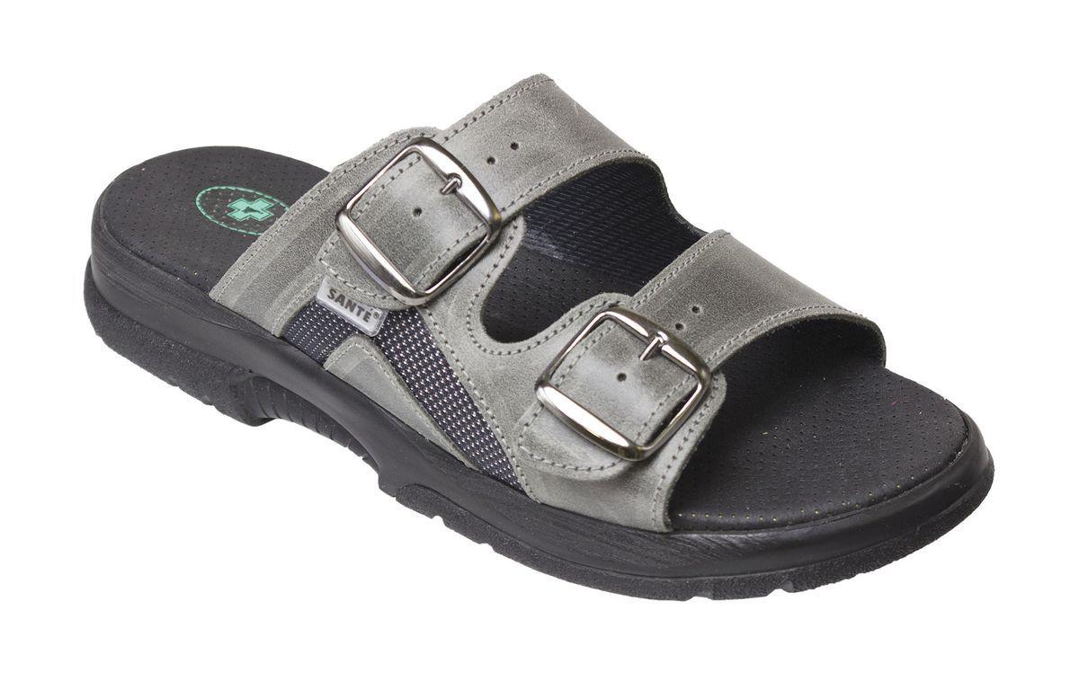 Zdravotní obuv SANTÉ pantofle N/517/32S/90/CP ANTRACIT SANTÉ - zdravotní obuv s.r.o.