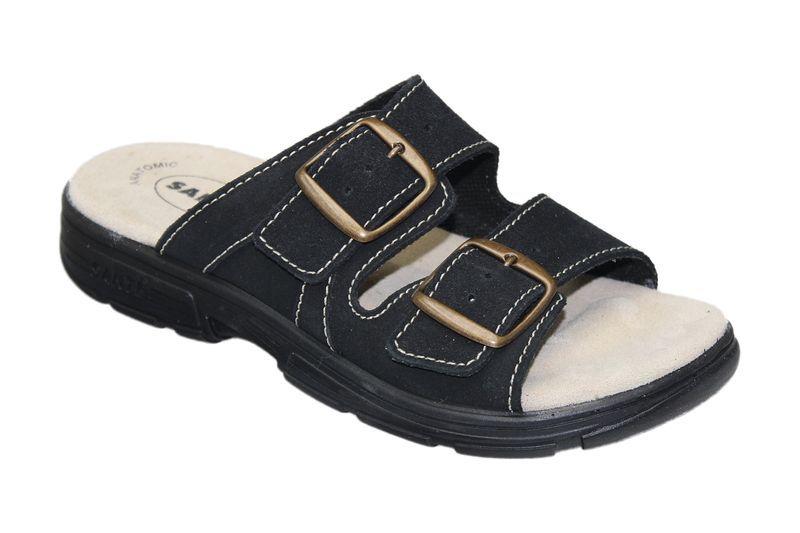 Zdravotní pantofle Santé skoženým svrškem a stélkou DM/125/33/68 CP