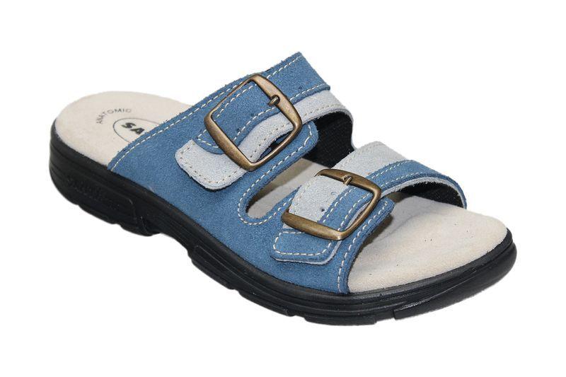 Zdravotní pantofle Santé skoženým svrškem a stélkou DM/125/33/88/18 CP