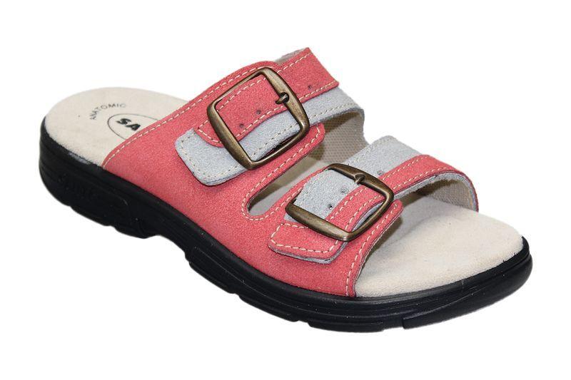 Zdravotní pantofle Santé skoženým svrškem a stélkou DM/125/33/36/18 CP